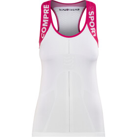 Compressport Trail Running V2 Ultra Tanktop Dames, white